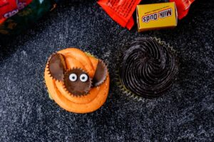 bat cupcake decorated