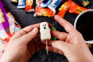 adding toothpick to ghost