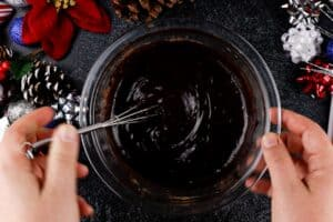 butter and cocoa powder mixture