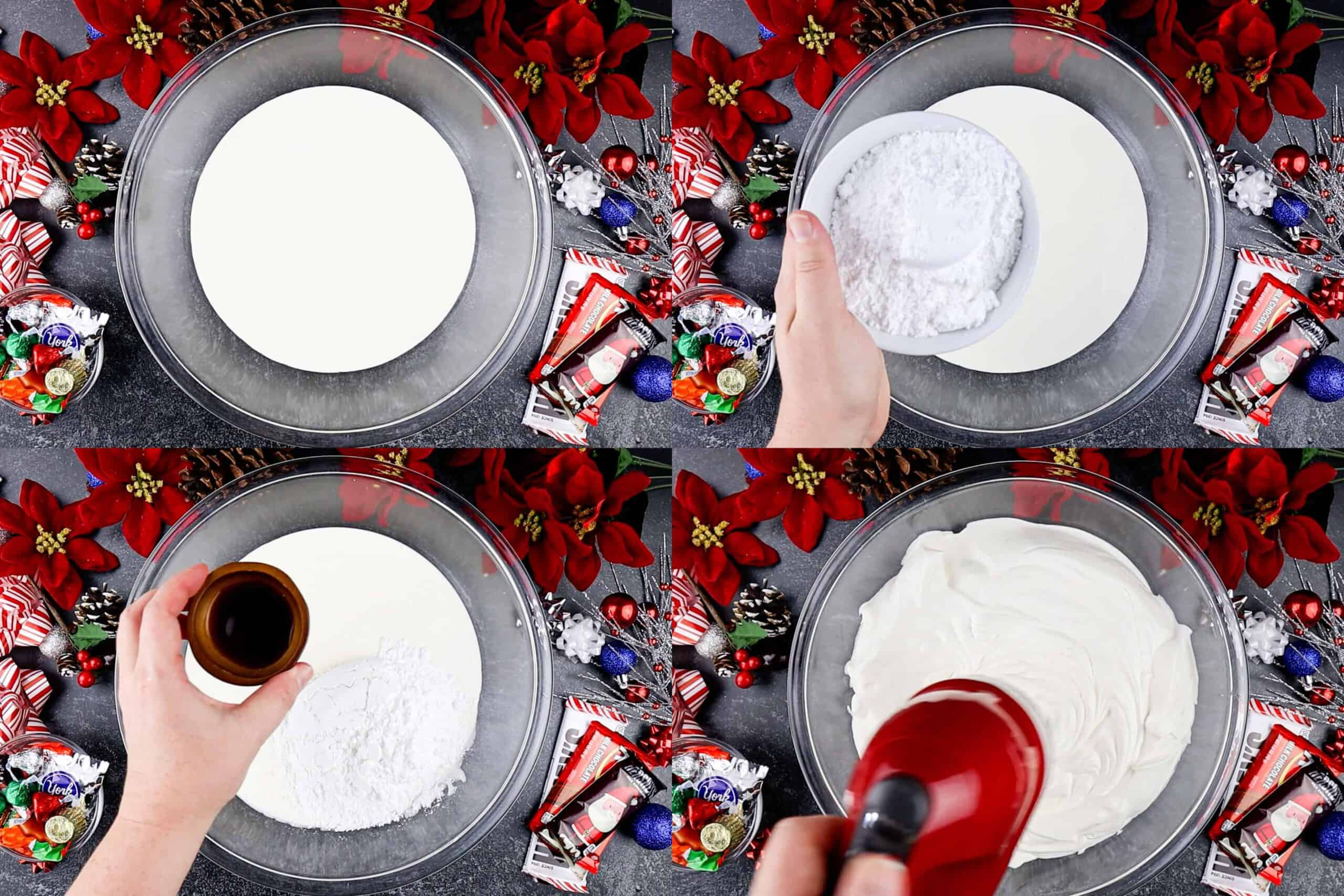 how to make whipped cream process shots