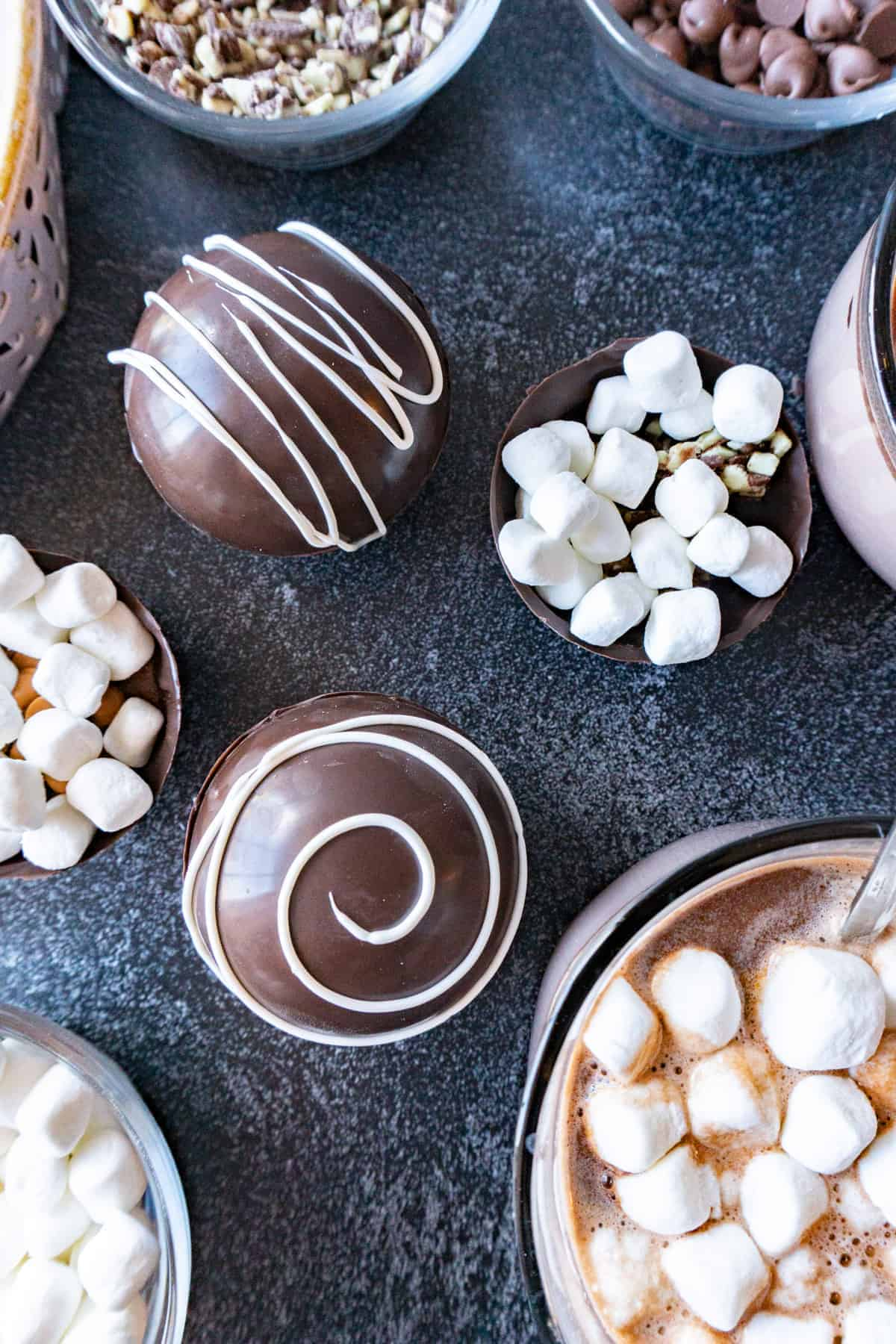 Hot Chocolate Bombs decorated