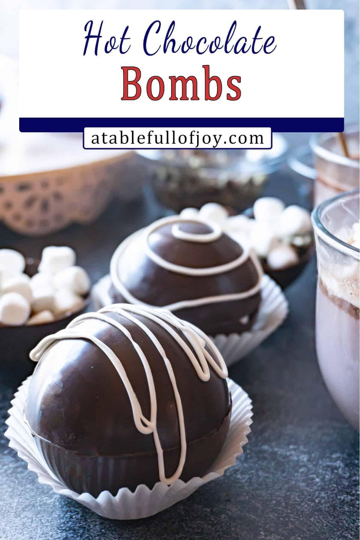 Hot Chocolate Bombs Recipe Pinterest Pin