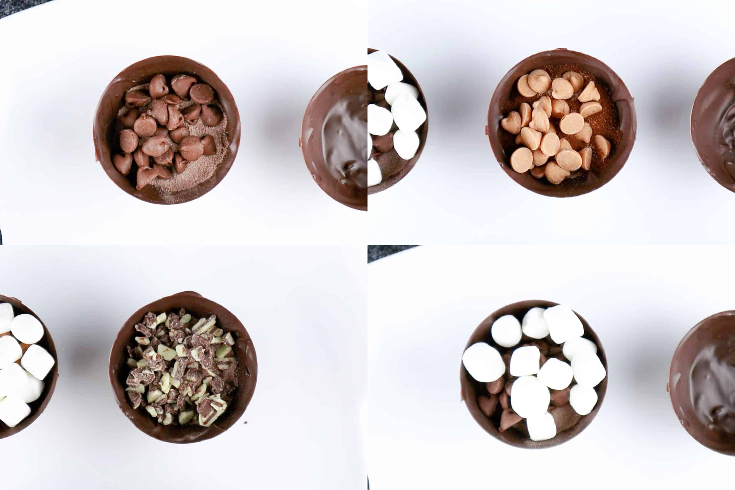 variations of flavors for the chocolate bomb
