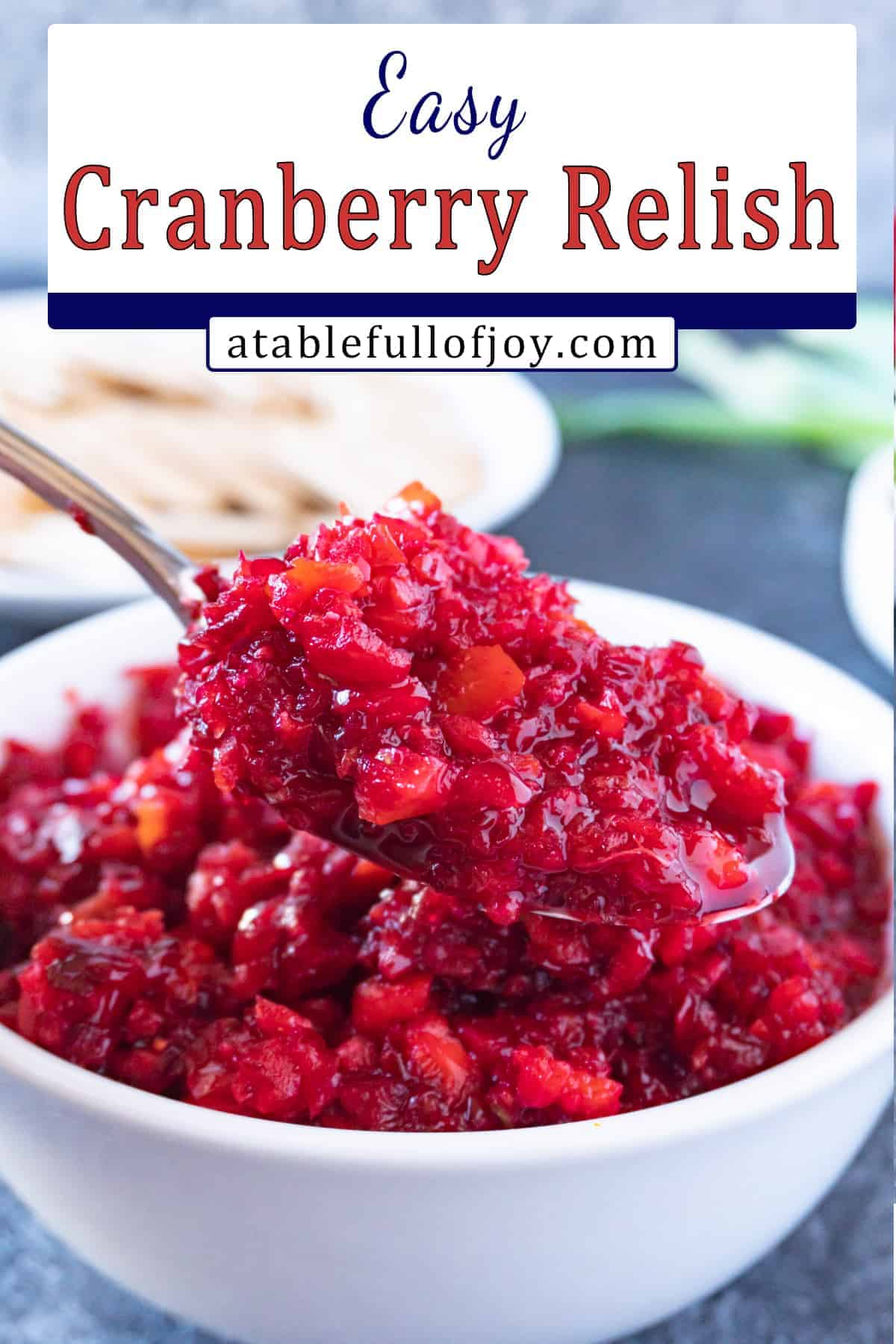 cranberry relish pinterest pin