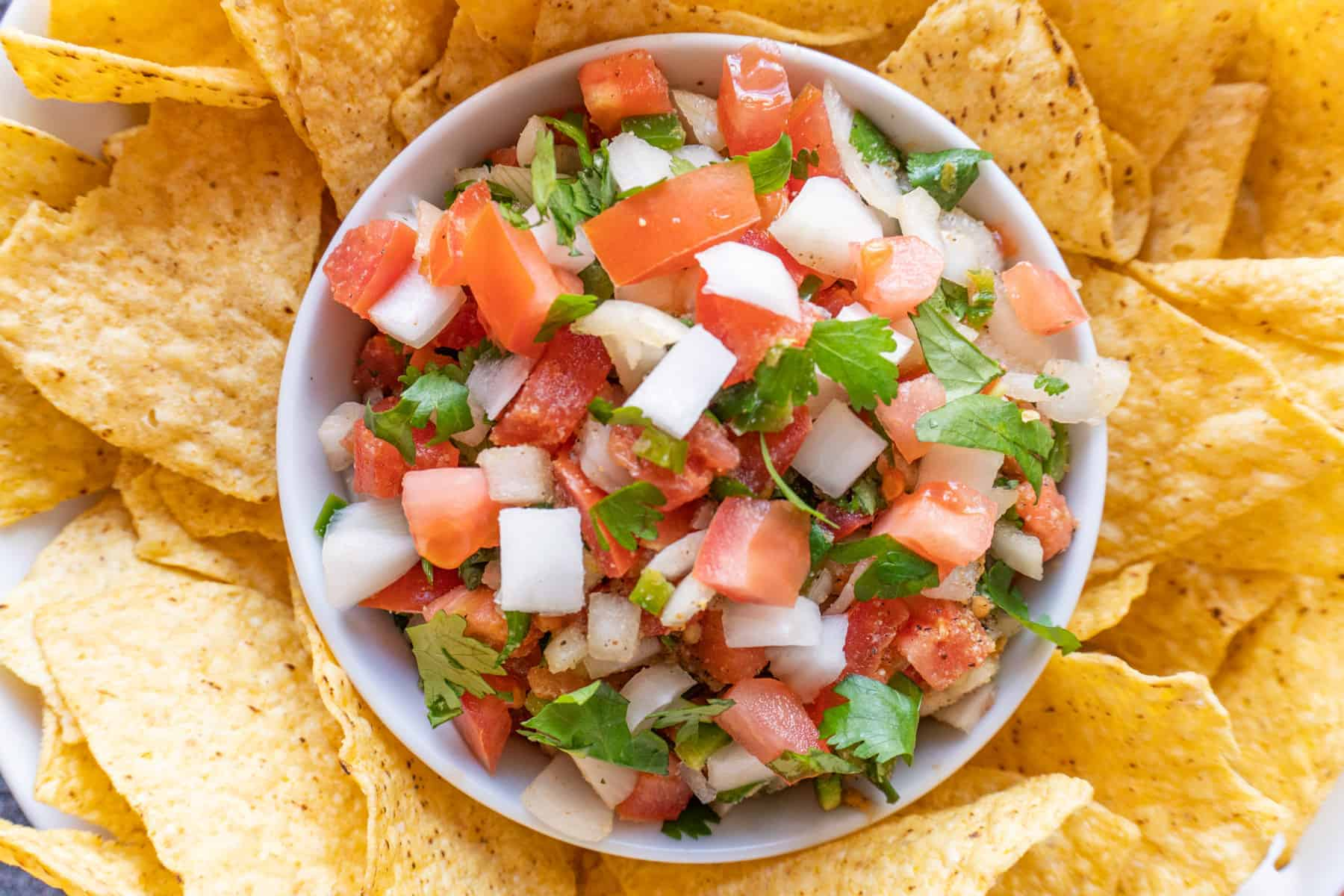 best pico de gallo close up