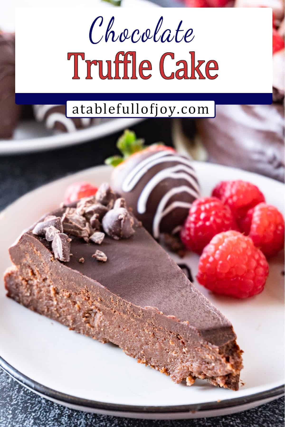 chocolate truffle cake pinterest pin