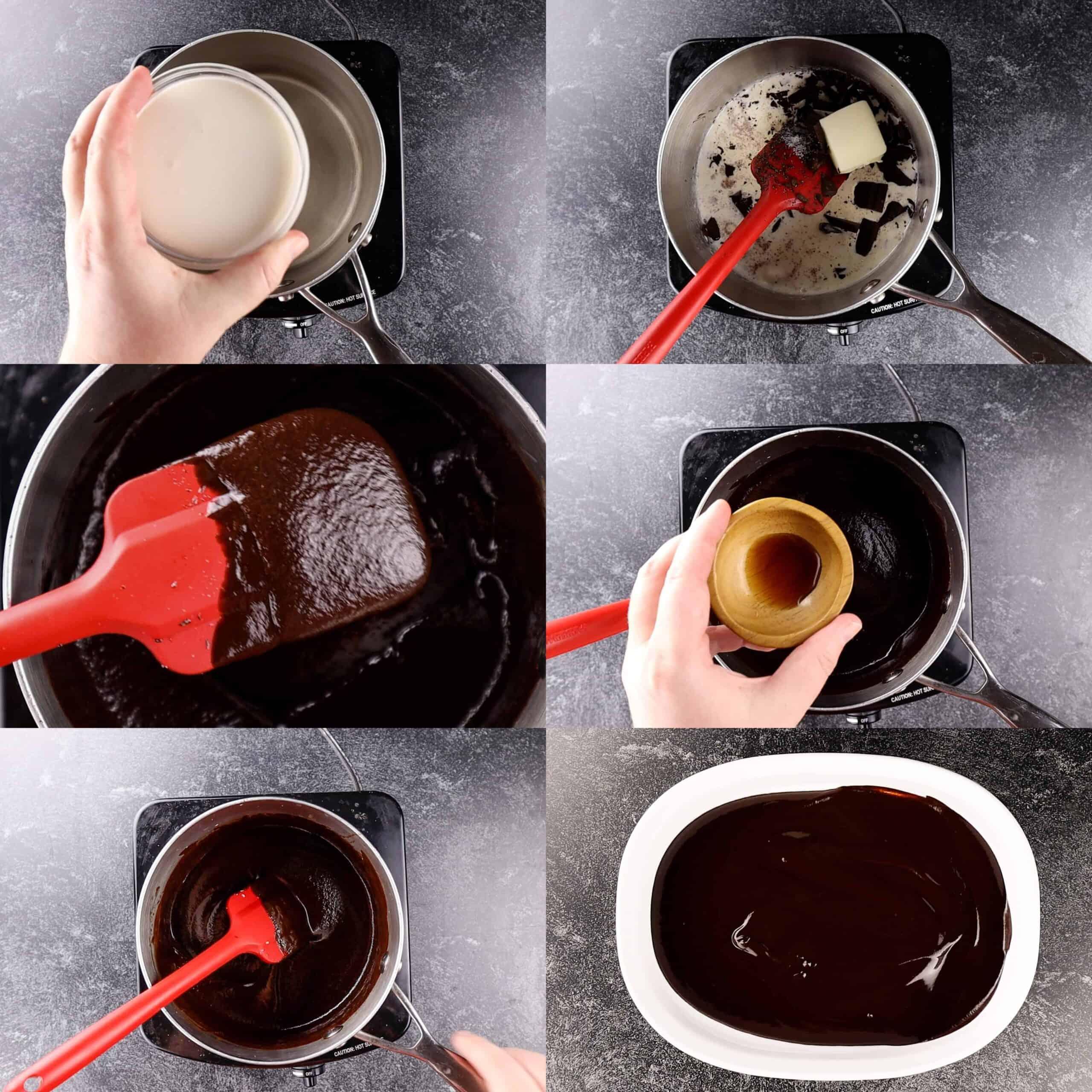 chocolate truffles process shots making truffles