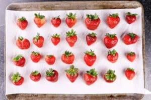 strawberries on paper towel