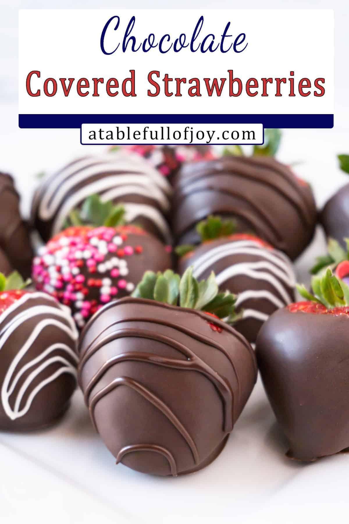 chocolate covered strawberries pinterest pin
