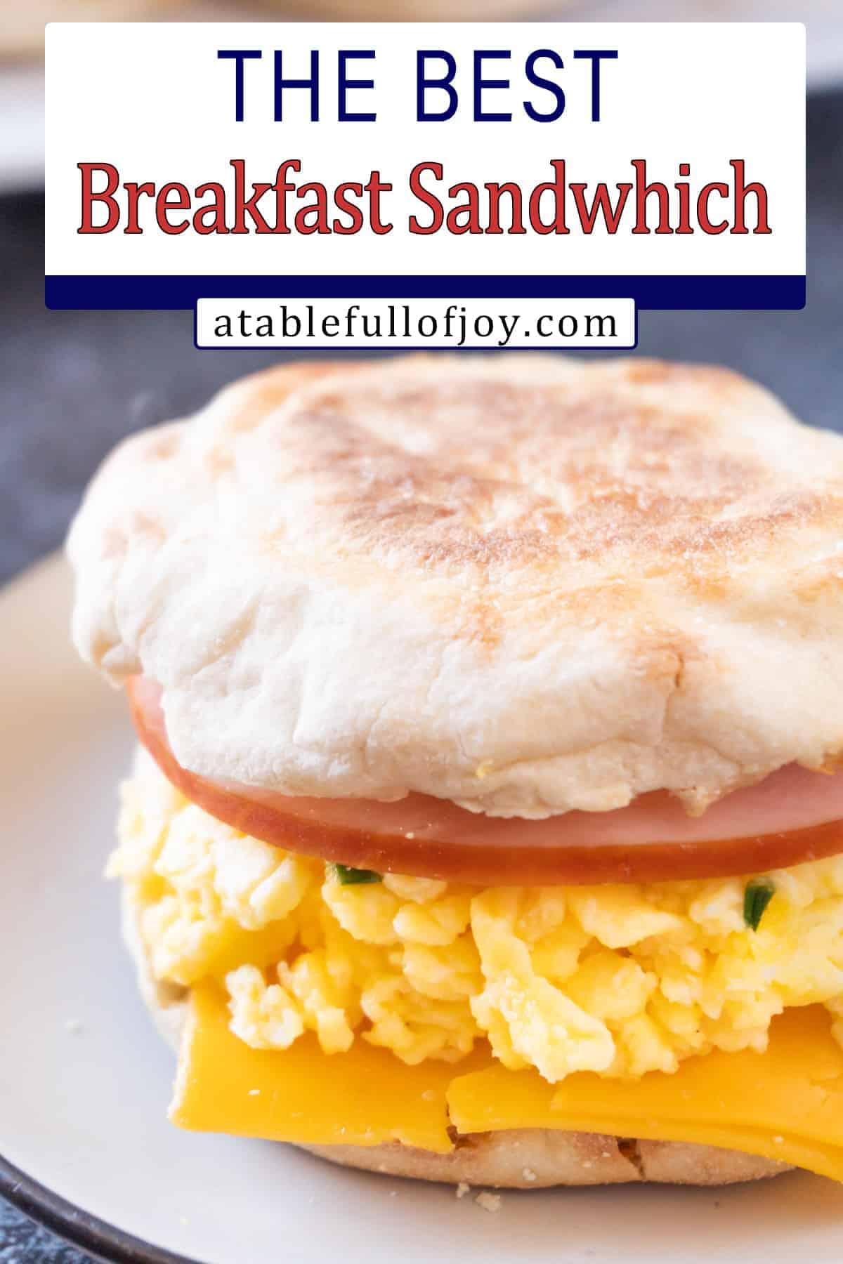 scrambled egg breakfast sandwich pinterest pin