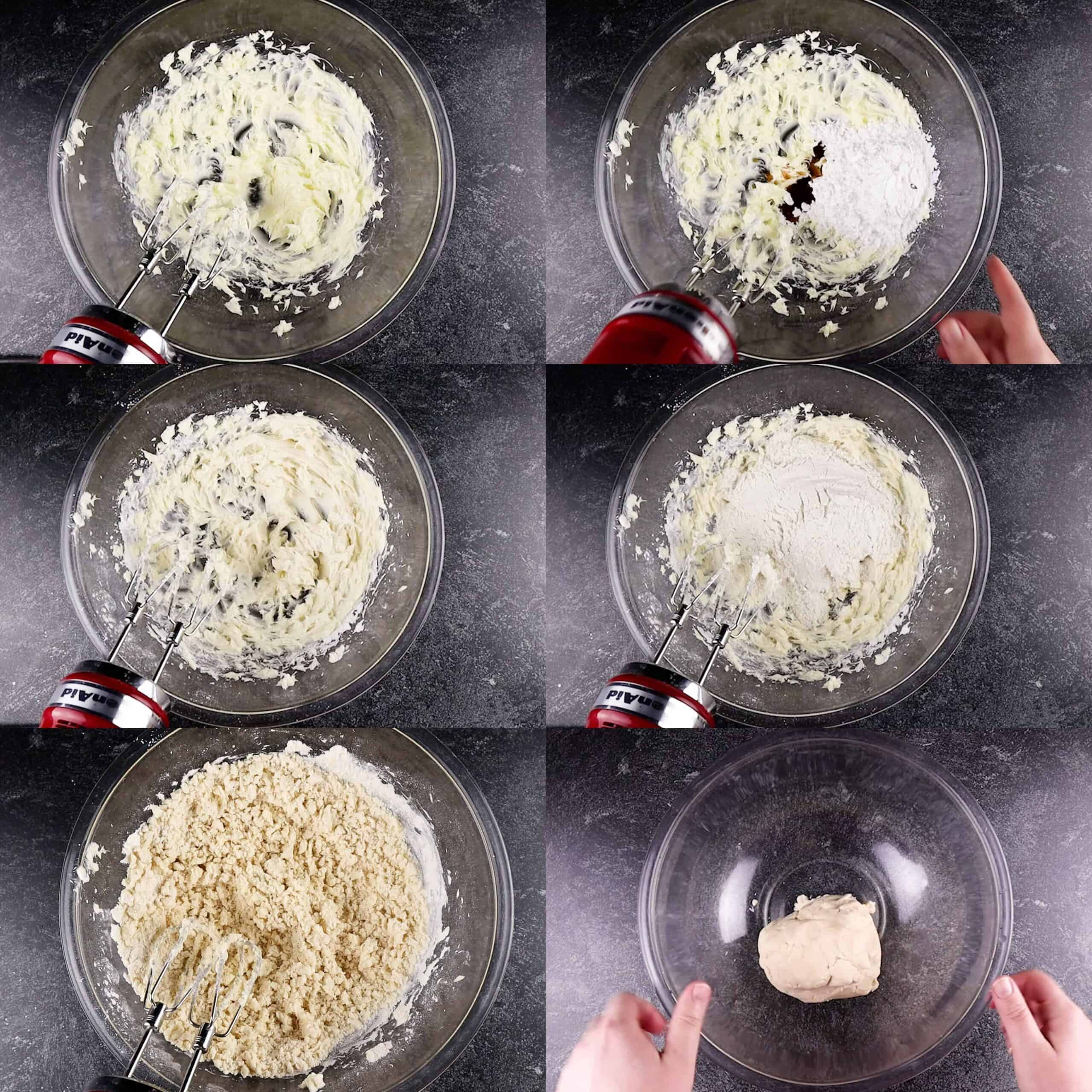 Make in the shortbread cookies dough