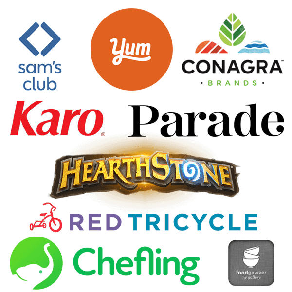 AS seen on Parade, Hearthstone, Yummly, Sam's Club, Congra, Red Tricycle, Chefling App. Foodgawker, Karo