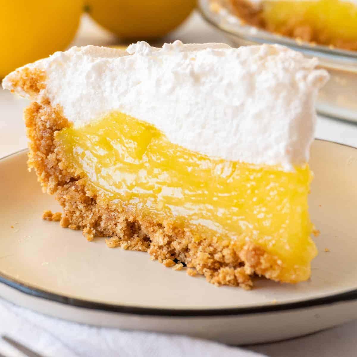 slice of lemon meringue pie featured image