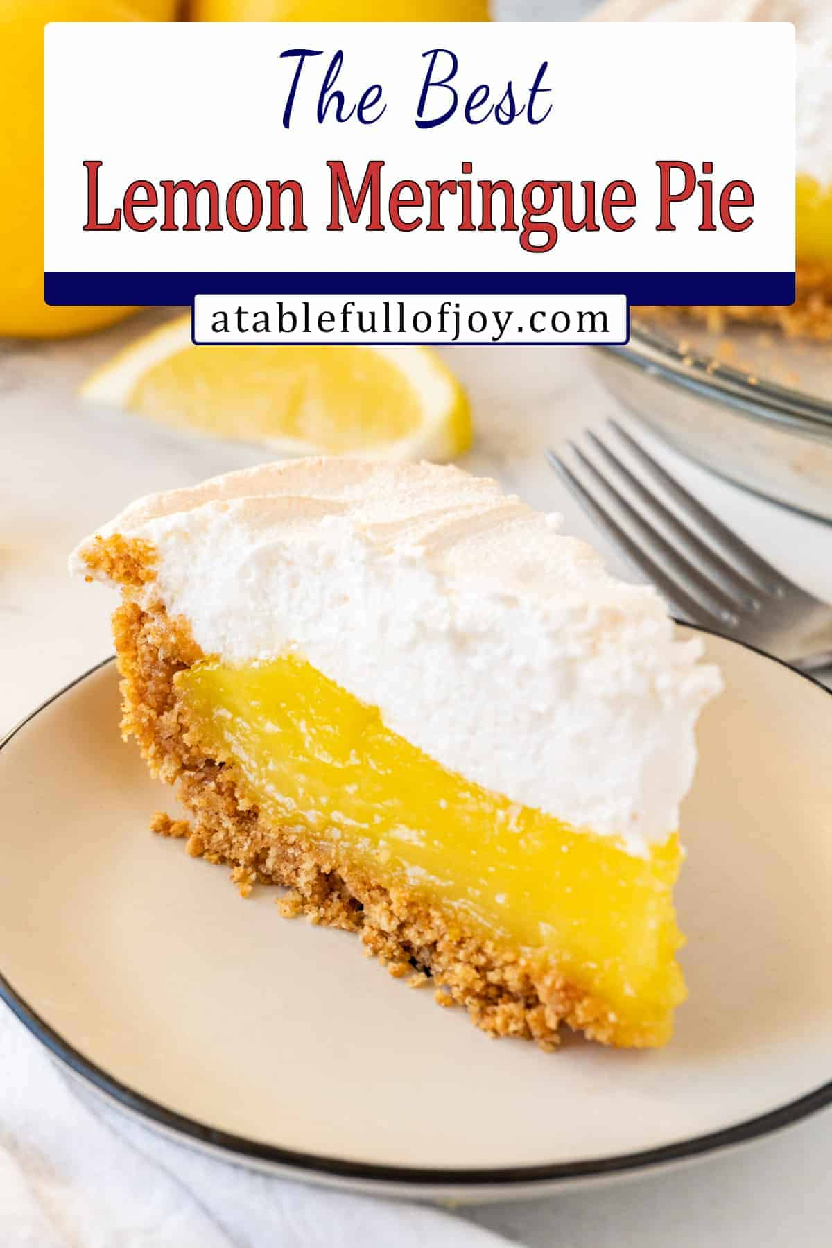slice of lemon meringue pie pinterest pin