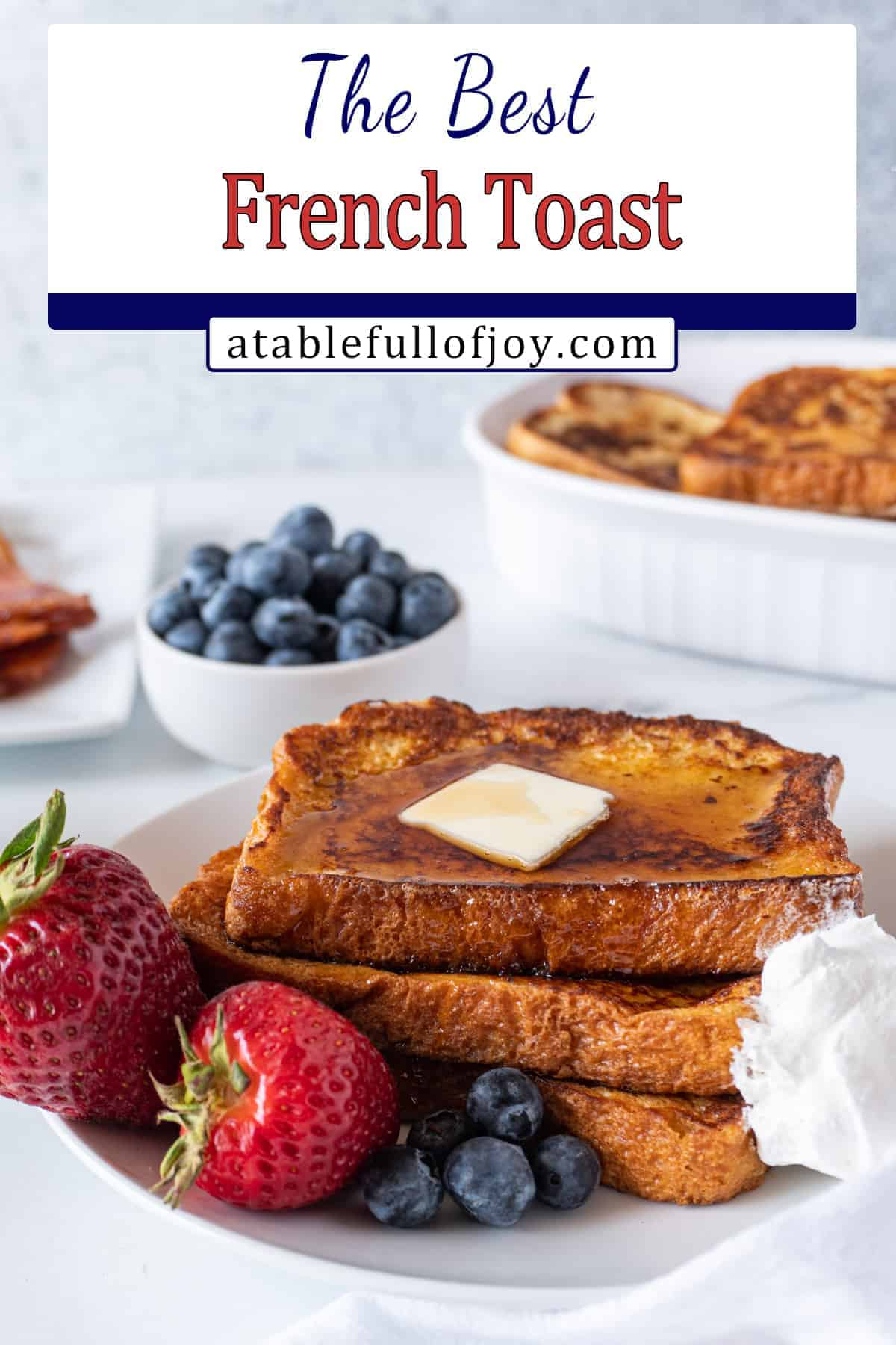 french toast on plate pinterest pin