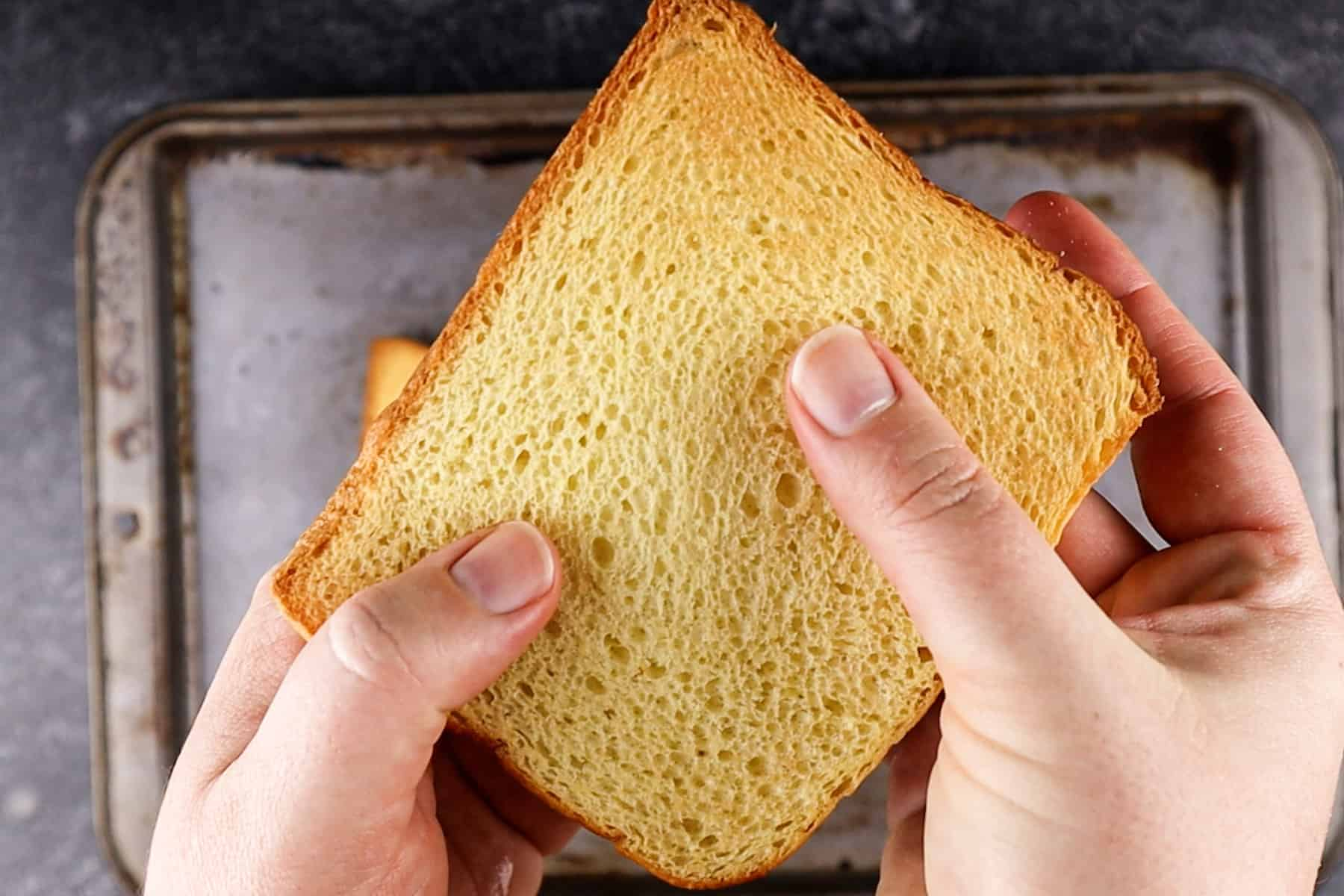 light toasted/ dried out piece of bread