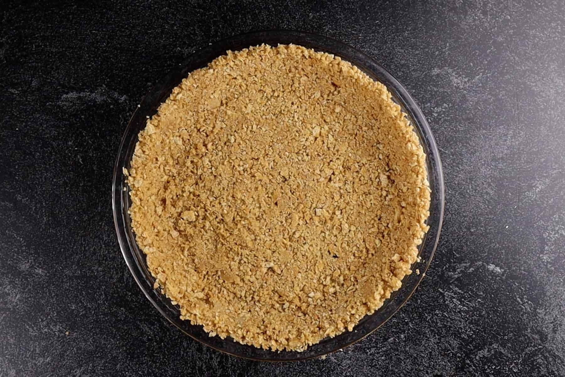graham cracker crust after baking