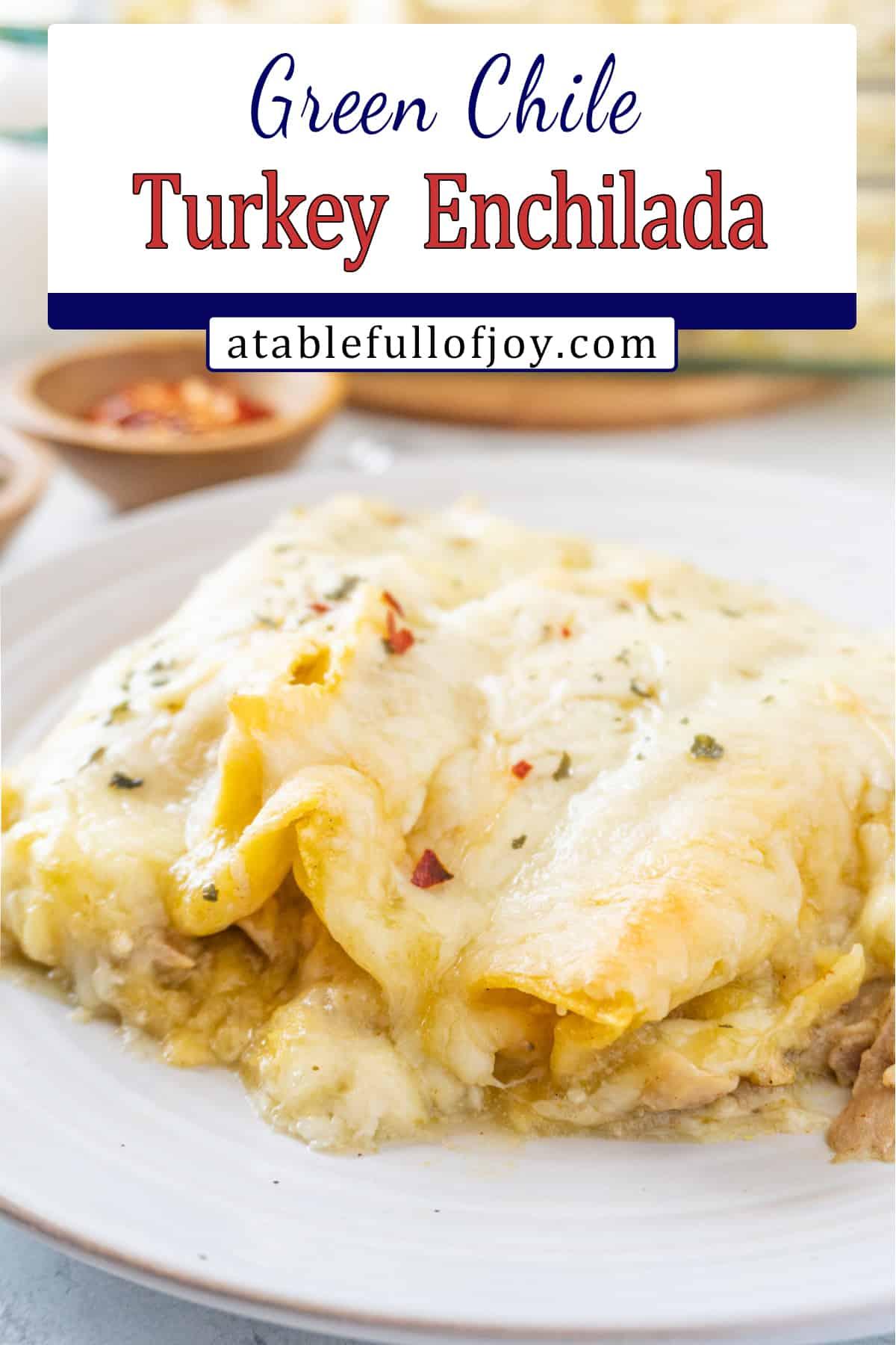 enchilada on plate pinterest pin