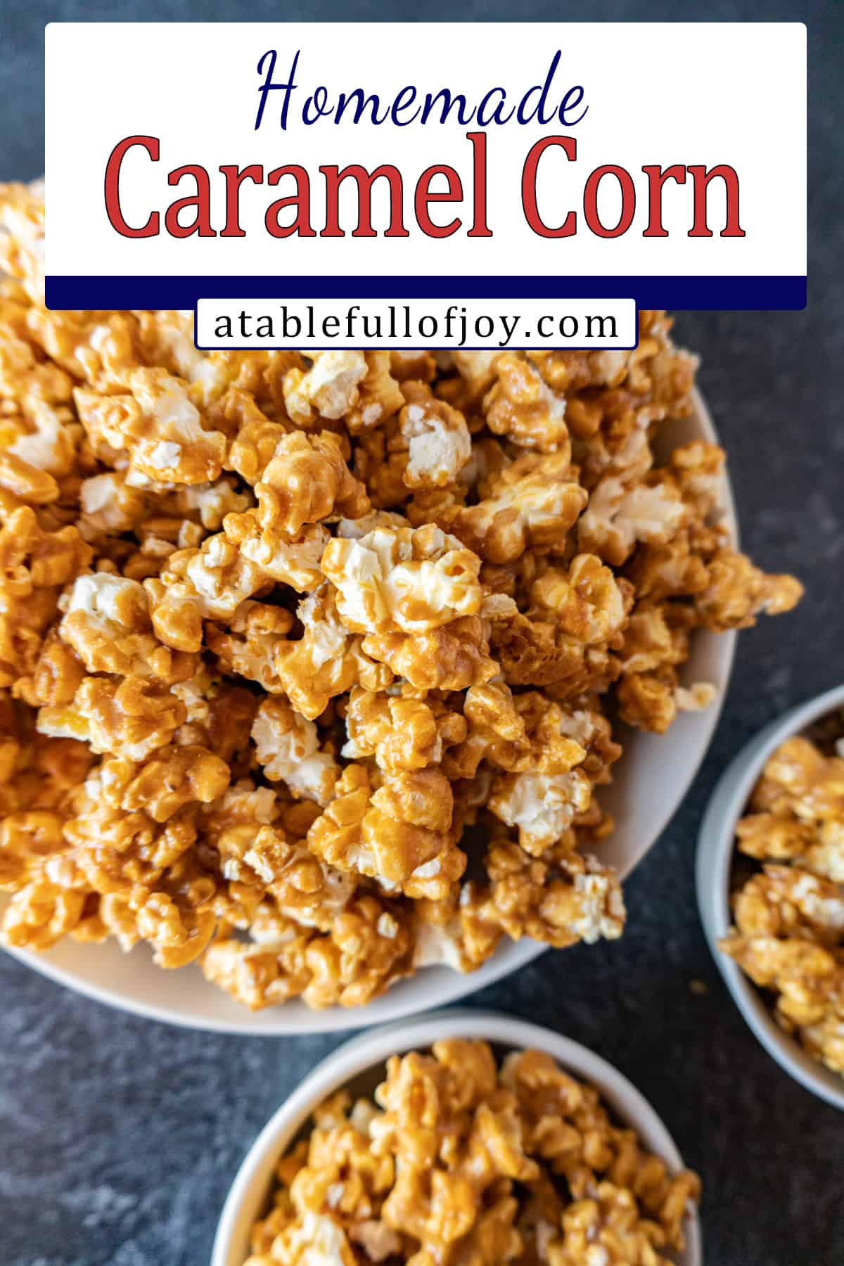 caramel popcorn pinterest pin