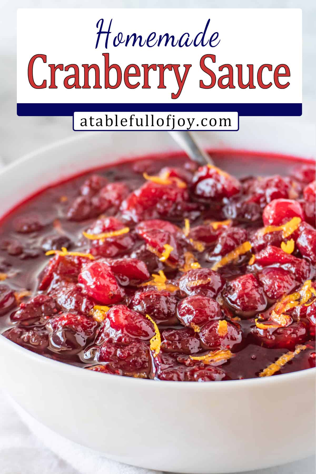 Cranberry Relish in white pinterest pin bowl
