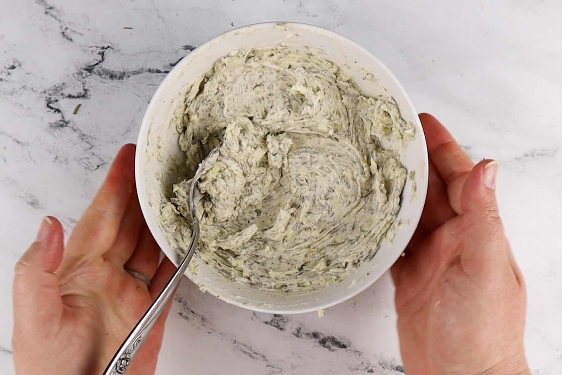 herb butter mixed