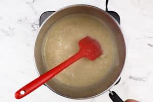 gravy boiling in sauce pan
