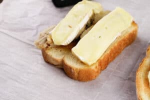 melted cheese on sandwich