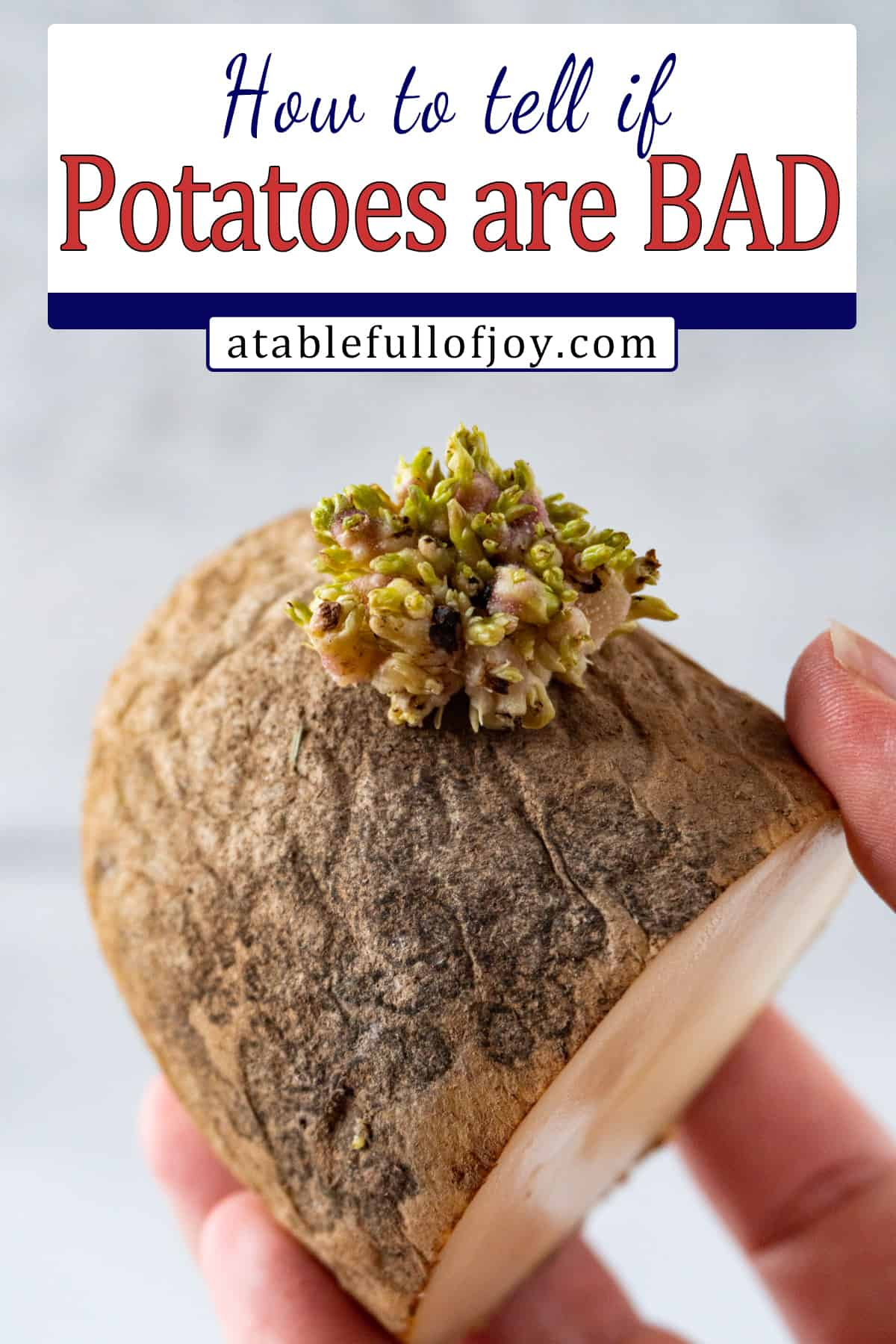 how to tell if potatoes are bad pinterest pin