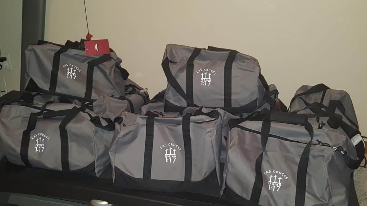 gray bags for foster kids