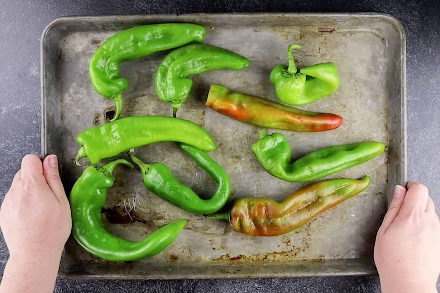 chiles before roasting