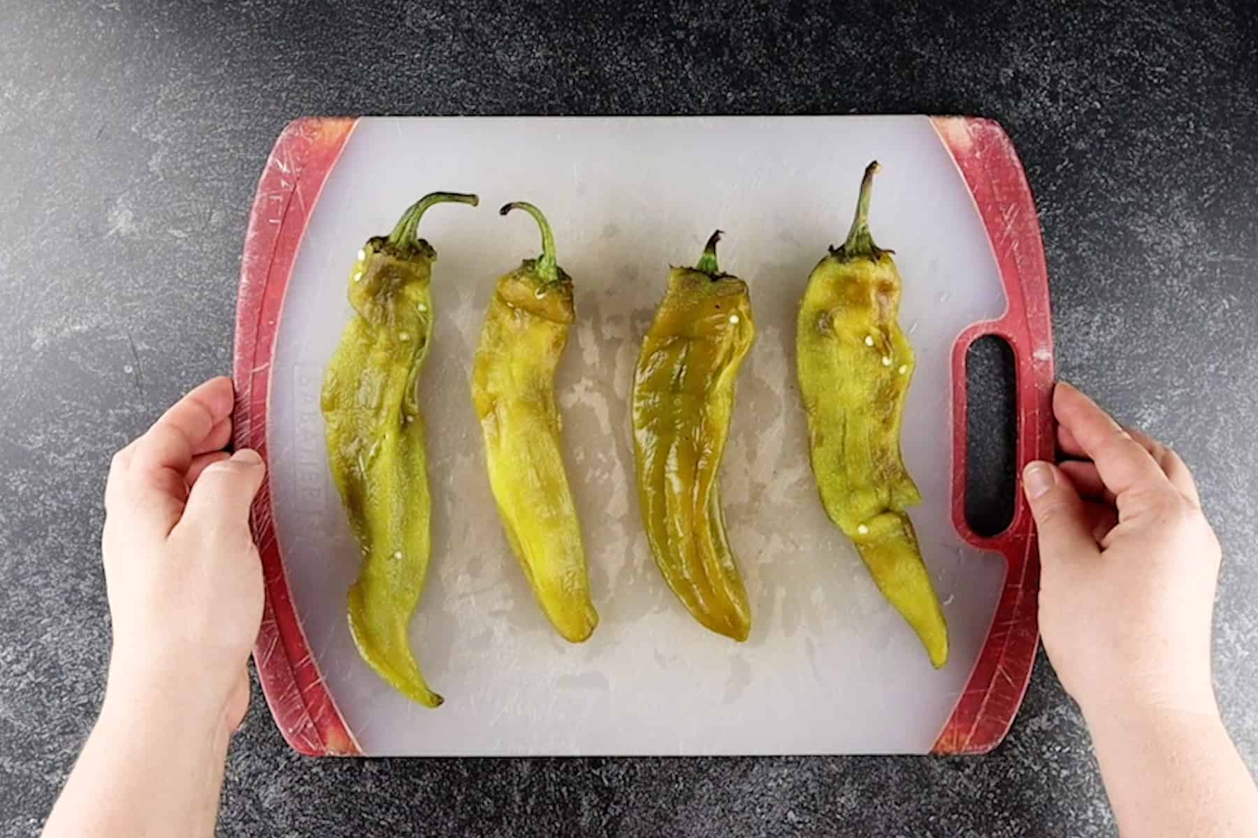 peeled green chiles