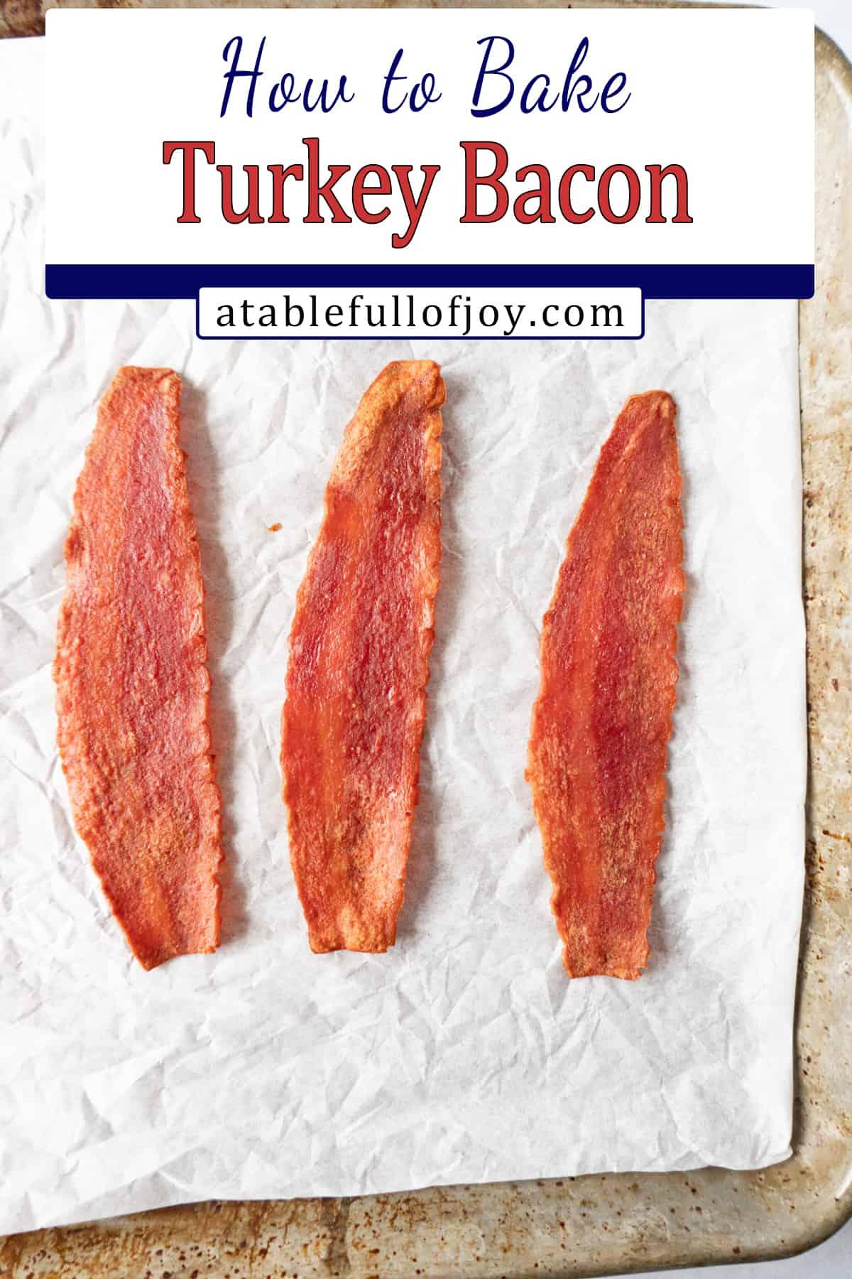 turkey bacon Pinterest image