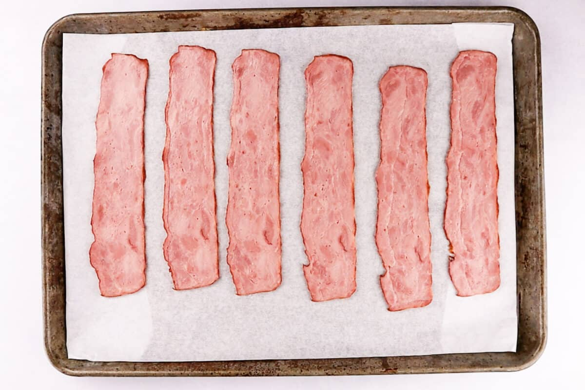 Signature Select Turkey bacon before baking