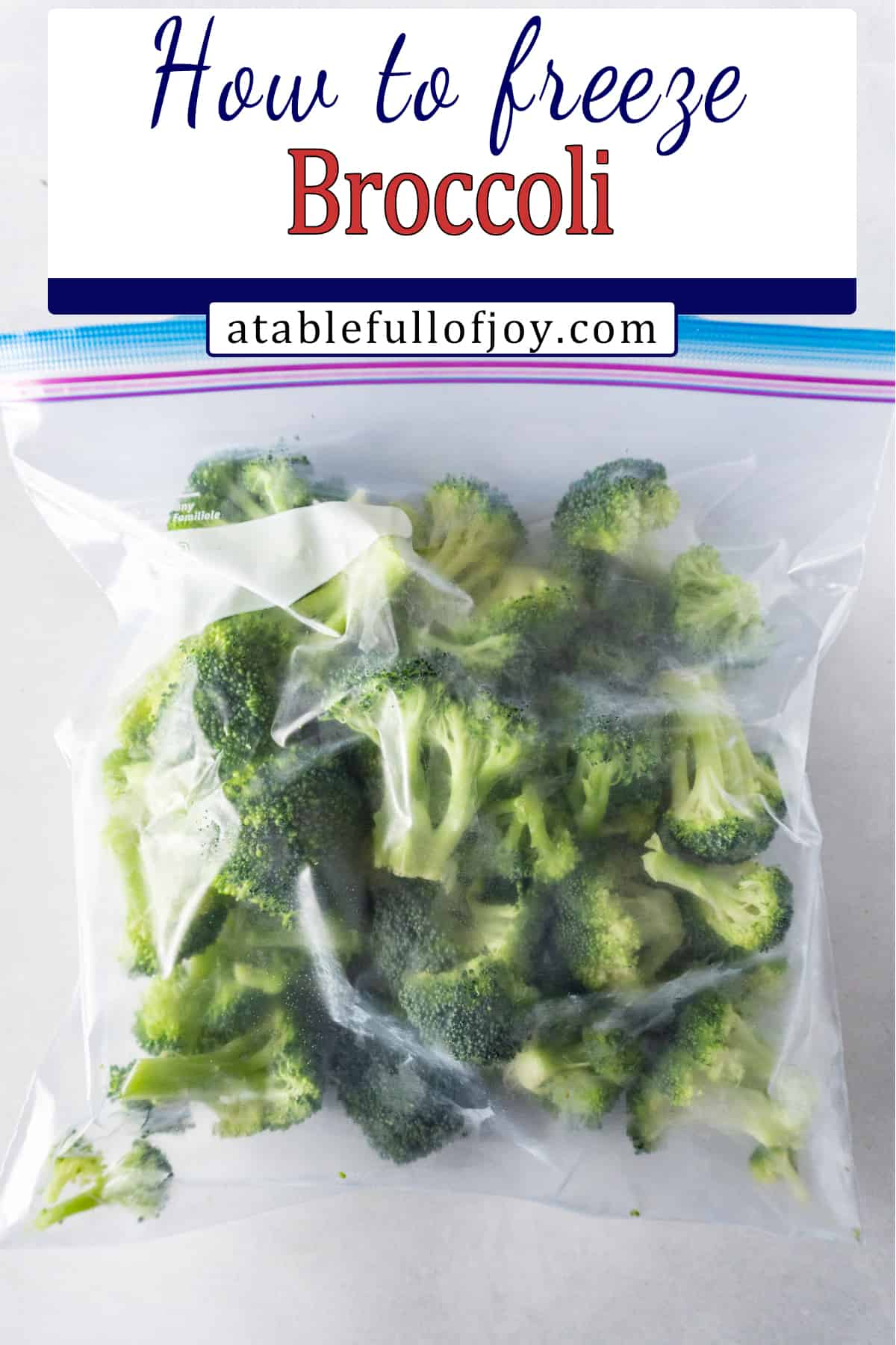 how to freeze broccoli pinterest pin