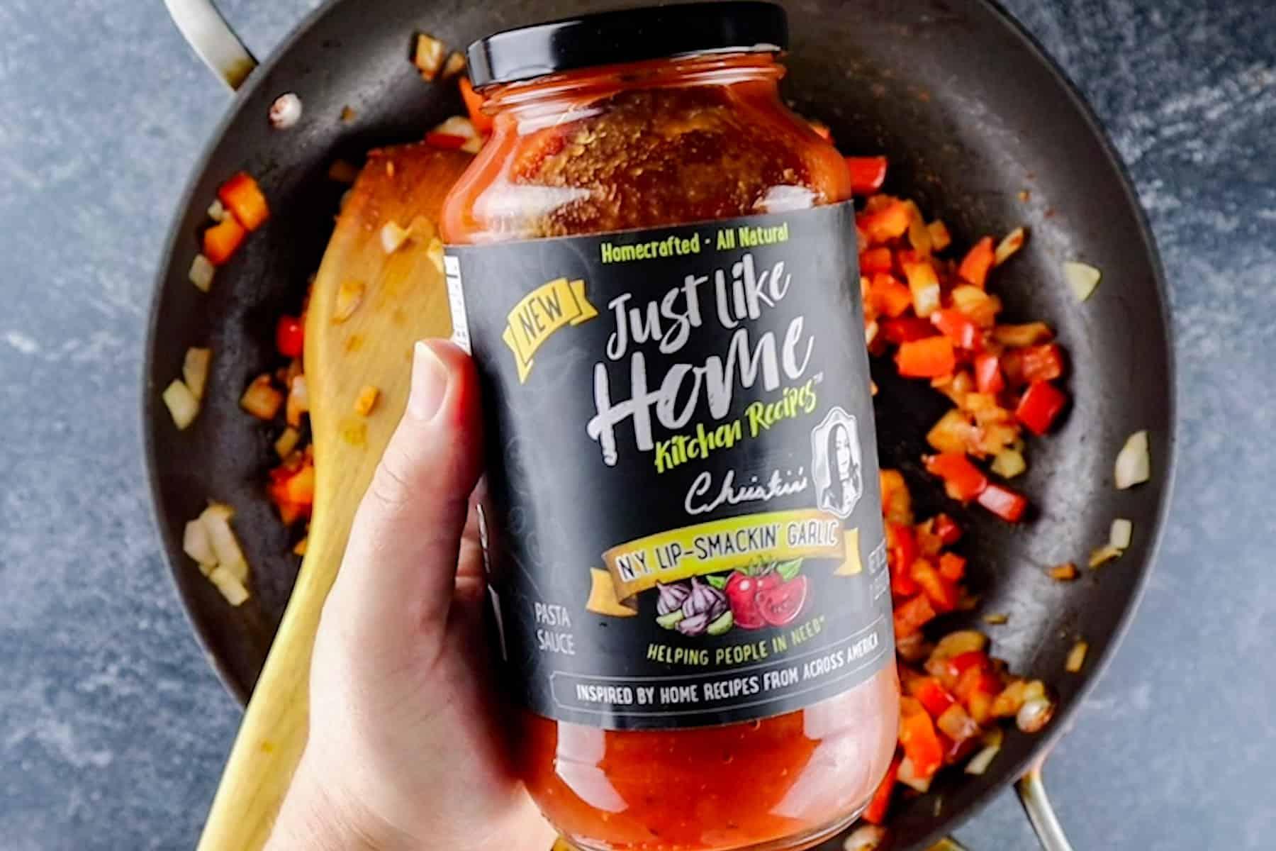pasta sauce in jar