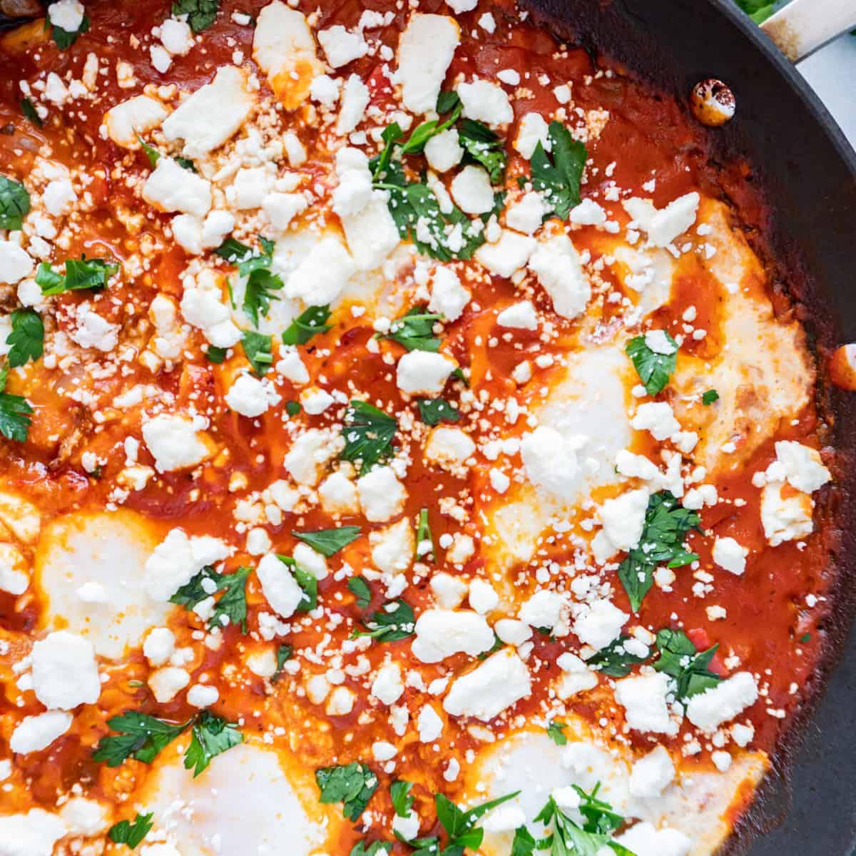 shakshuka in pan featured image