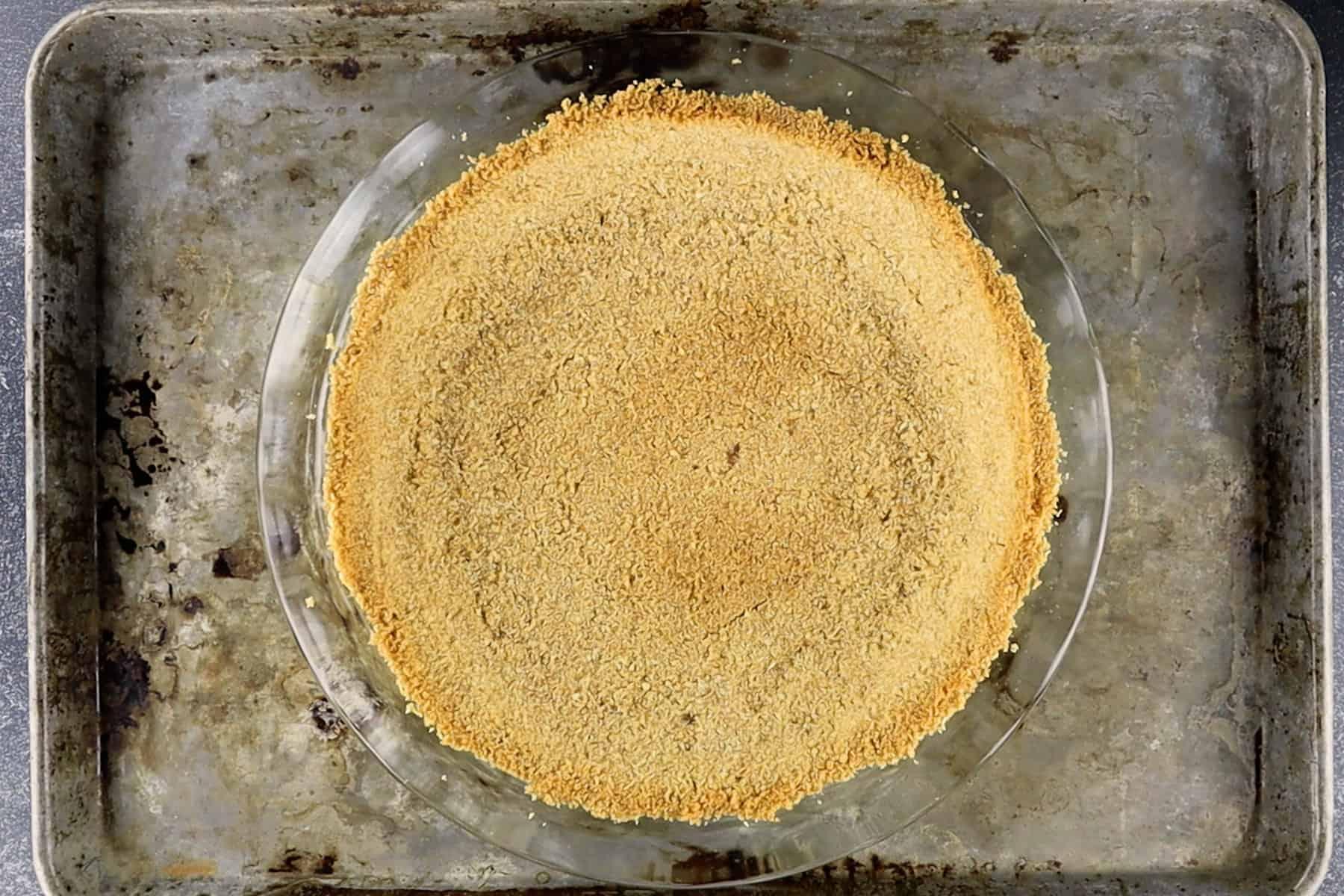 pre-baked graham cracker crust